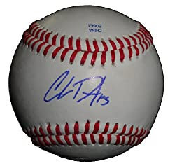 Chris Denorfia Autographed ROLB Baseball, San Diego Padres, Oakland Athletics, Proof Photo