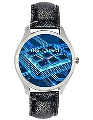 Time Expert Analogue Blue Dial Men's Watch - TE100218