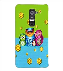 PrintDhaba Owl D-3533 Back Case Cover for LG G2 (Multi-Coloured)