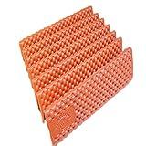 最高の寝心地 折りたたみ エッグ スロット マット 凹凸 マット お手入れ 用  マイクロファイバークロス 付き セット 商品 (オレンジ )