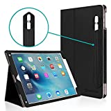 iPad Pro 9.7 Case, [Corner Protection], Casecrown Bold Standby Pro (Black) Case w/ Apple Pencil Holder - Black, Sleep / Wake, Hand Grip, & Multi-Angle Viewing Stand