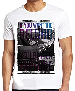 Jack & Danny's Men's The Reload - Funky Graphic Printed T Shirt White Small