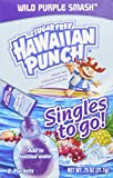 Hawaiian Punch Singles To Go Wild Purple Smash, 8-Count, .75oz, (Pack of 12)