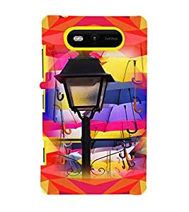 PRINTVISA Abstract Lamp Case Cover for Nokia Lumia 820