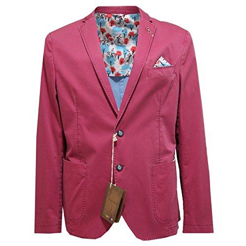2579O giacca MANUEL RITZ viola chiaro giacche uomo jackets men [52]