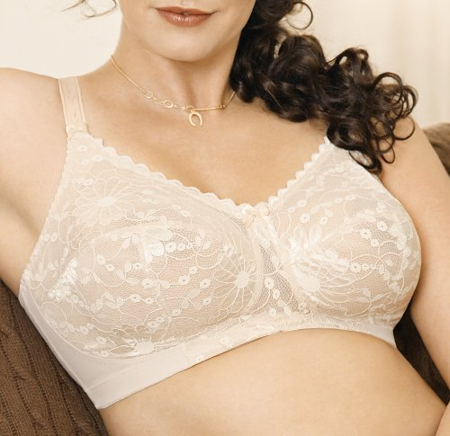 Goddess Women'S Floral Lace Soft Cup Bra, White, 40C