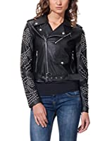 SELFIE 22 Chaqueta Biker With Tacks On Sleeves (Negro)