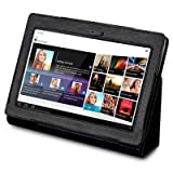 SONY S1 TABLET PU LEATHER CASE / COVER / POUCH / HOLSTER – BLACK PART OF THE QUBITS ACCESSORIES RANGE