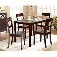 Beverly 5-Piece Dining Set (Espresso)