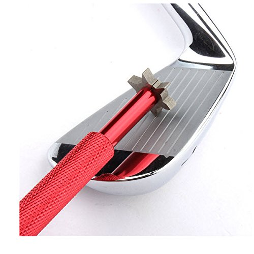 Golf Club Groove Sharpener with 6 Heads - Ideal for Optimal Backspin and Ball Control - Perfect Tool for Wedges and Utility Clubs - From Specialty Golf Products