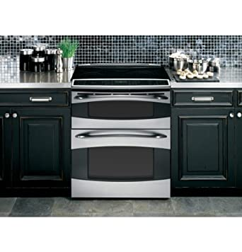 """GE PS978STSS Profile 30"""" Stainless Steel Electric Slide-In Smoothtop Double Oven Range - Convection"""
