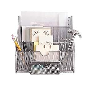 Neat life mesh wall bureau silver office - Neat desk organizer ...