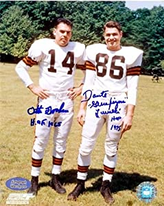 Dante Lavelli & Otto Graham Autographed Hand Signed 8x10 Photo (Cleveland Browns... by Hall of Fame Memorabilia