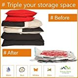 Enormous Space Saver Cube Vacuum Storage Bags, Three Pack. For Blankets, Comforters & Cushions