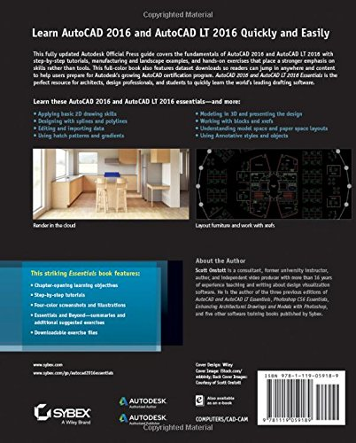 AutoCAD 2016 and AutoCAD LT 2016 Essentials: Autodesk Official Press ...