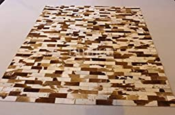 Handmade Natural Cowhide Leather Rug - Jersey Wall (4\'x6\' (120cm x 180cm) Area Rug)