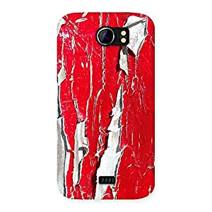 Special Red Ripped Paint Print Back Case Cover for Micromax Canvas 2 A110