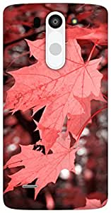 The Racoon Grip Autumn Fall Corel hard plastic printed back case / cover for LG G3 Beat