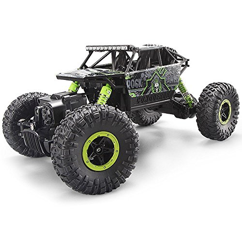 MiGoo 2.4Ghz RC Rock Crawler 4WD Monster Truck Off-Road Veicolo Giocattolo Fare Regali (Verde)