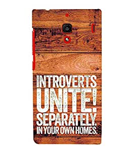 Introverts Unite Separately Cute Fashion 3D Hard Polycarbonate Designer Back Case Cover for Xiaomi Redmi 1S :: Xiaomi Redmi 1