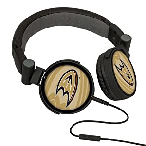 NHL Anaheim Ducks Oversized Logo Headphones by Pangea Brands