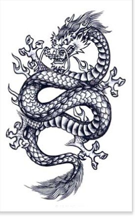 Mythic Dragon Temporary Tattoo #109
