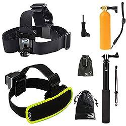 EEEKit 3-in-1 Swimming Solution Kit for GoPro HERO4 Black/Silver Session HERO, LCD HERO 4/3+/3/2/1, Head Strap Mount, Floaty Grip Pole Mount, Extention Selfie Stick Monopod Pole Mount