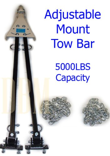 Find Bargain Universal Adjustable 2 Arms Tow Bar w/ Chains 5000 Lb