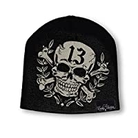 Lucky 13 Black Triumph Skull Printed Fashion Knit Beanie Unisex
