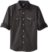 American Hawk Big Boys39 Long Sleeve Polka Dot Sport Shirt