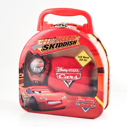 51Z jyxEWHL Disney Pixars Cars the Movie LCD Watch in Tin   Red