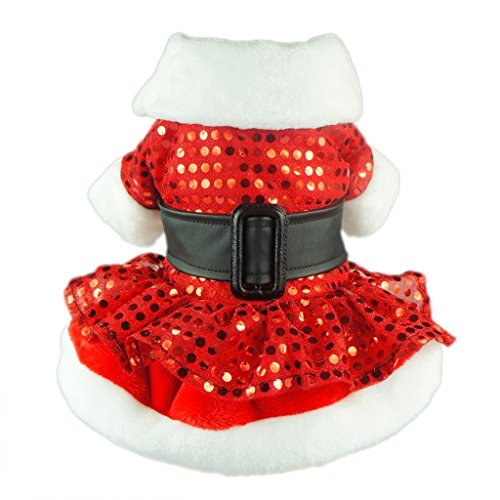 Fitwarm-Noble-Bling-Bling-Xmas-Dog-Dress-for-Pet-Coat-Santa-Winter-Clothes