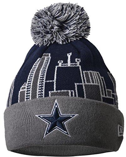 Slimio  Dallas Cowboys 3D Building Warm Thick Cuffed Knit Pom Beanie - Patter...