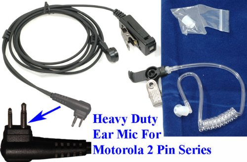 Surveillance Kit Acoustic Tube Clear Coil For Motorola Cp200 Gp300 Pr400 Etc