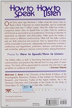 mortimer adler how to speak how to listen pdf