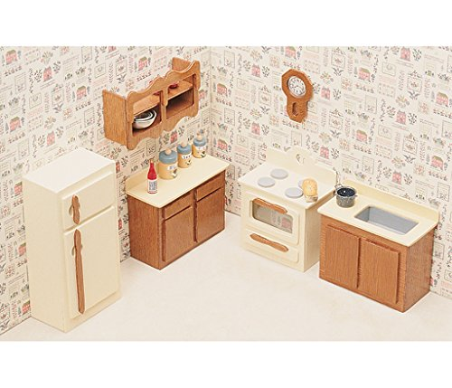 [Dollhouse Furniture Kit-Kitchen] (Guys And Dolls Costumes Era)