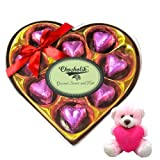 Valentine Chocholik Premium Gifts - Tempting Choco Wrapped Chocolate Box With Teddy