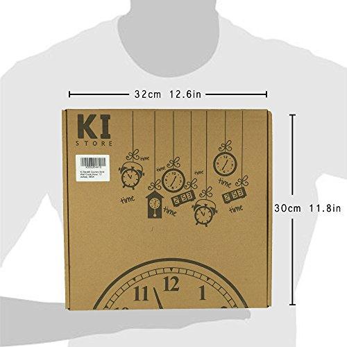 "KI Store Silent Wall Clock Decorative, Premium Vintage Wall Clocks 12"" 6"
