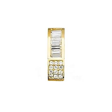 18k gold pendant zircons baguet [AA4717]