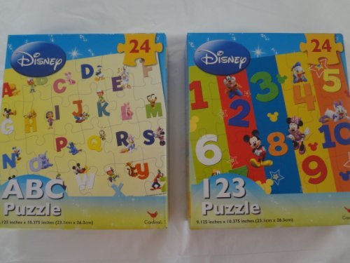 Disney ABC and 123 Puzzles 24 Piece (Set of 2) - 1
