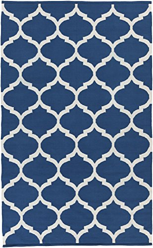 Blue Rug Modern Chic Design 2-Foot x 3-Foot Cotton Flat-Woven Trellis Dhurry