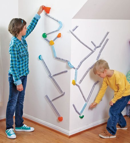 Wall Coaster Extreme Stunt Marble Run Kit Marble Runs