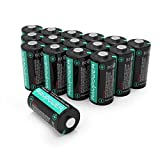 Updated CR123A Lithium Batteries RAVPower Non-Rechargeable 3V Lithium Battery, 16-Pack, 1500mAh Each, 10 Years of Shelf Life for Arlo Cameras, Polaroid, Flashlight, Microphones [CAN NOT BE RECHARGED] (Color: black)