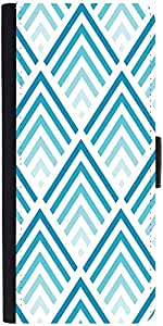 Snoogg Super Blue Design Graphic Snap On Hard Back Leather + Pc Flip Cover Sa...