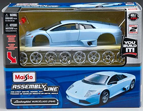 Maisto 1:24 Scale Assembly Line Lamborghini Murcilago LP 640 Diecast Model Kit (Colors May Vary) (Lamborghini Model Kit compare prices)