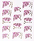 Ld Glitter French Tip Nail Art Polish Film / Stickers For Hands / Pink Feather With Bonus Flower Stickers Plus Get Even More With Special Offers From La Demoiselle