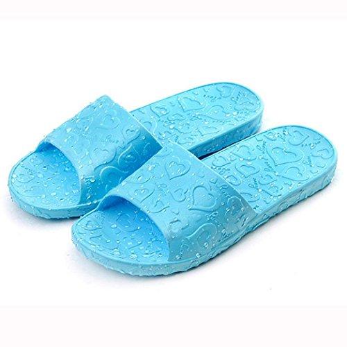 Lisingtool Sandals,Summer Bohemia Sweet Beaded Sandals Clip Toe Sandals Beach Shoes (Sky Blue, 9.5)