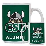 Cleveland State Alumni Full Color White Mug 15oz 'CSU Viking Head'
