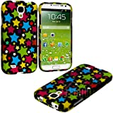 "myLife (TM) Colorful Star Overload Series (2 Piece Snap On) Hardshell Plates Case for the Samsung Galaxy S4 ""Fits... by myLife Brand Products"