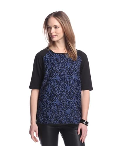 W118 by Walter Baker Women's Lavana Jacquard Top  [Black/Navy]